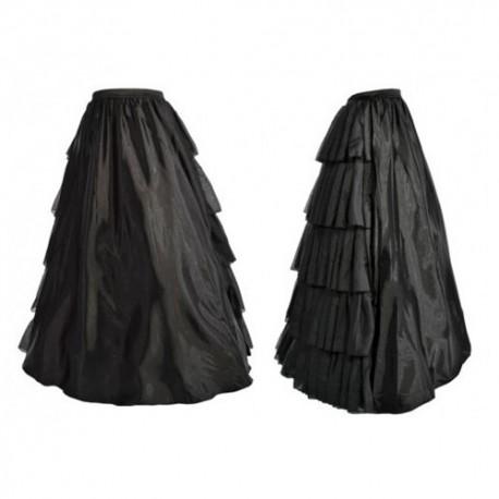jupe longue noire volants au dos. Black Bedroom Furniture Sets. Home Design Ideas