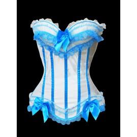 Corset Blanc Bleu