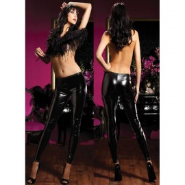 Black legging PVC