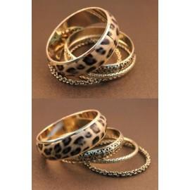 Bracelets Bangles Léopard