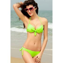 Bikini Push-up Vert Fluo