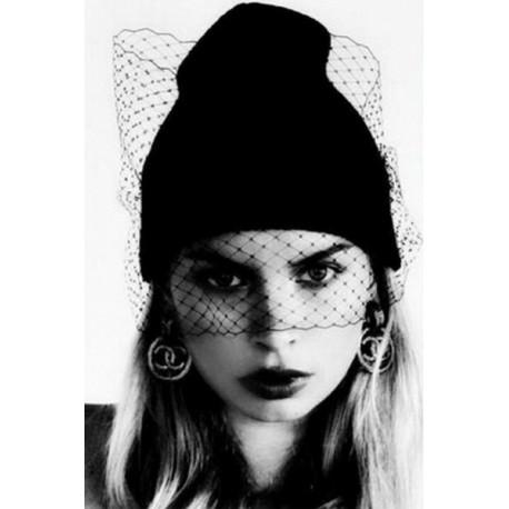 Bonnet Voilette Noir