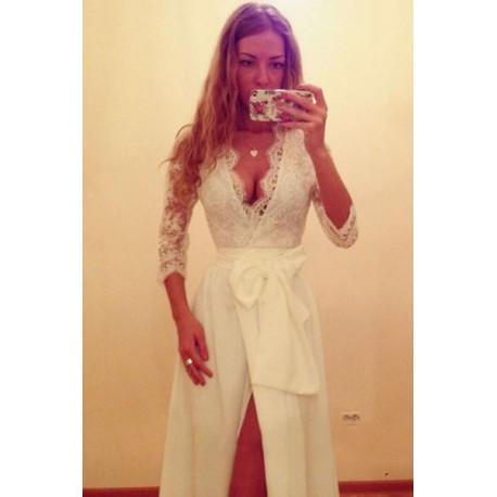Robe de Soirée Blanc Cassé