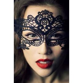 Masque Broderie Dentelle Noir