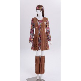 Déguisement femme hippie version robe