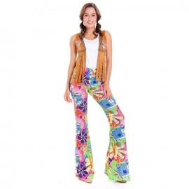 Déguisement femme hippie version pantalon