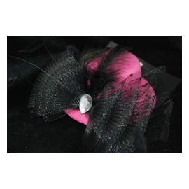 Mini chapeau rose et noir