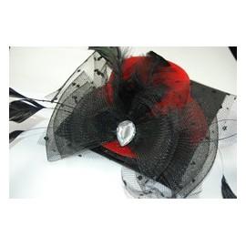 Mini chapeau rouge et noir