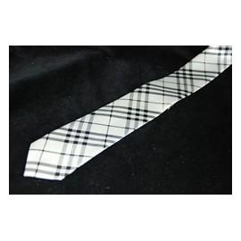 Cravate Tartan Blanche